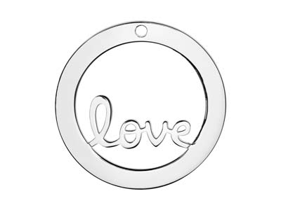 Sterling Silver Love Washer 32mm   Stamping Blank