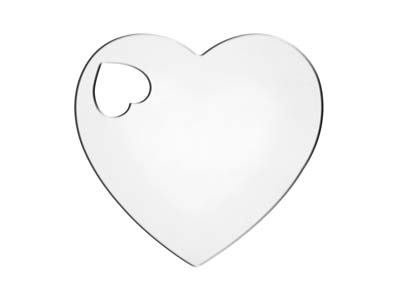 Sterling Silver Heart 20mm         Stamping Blank
