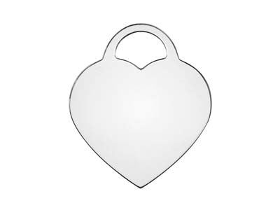 Sterling Silver Heart Lock 16mm    Stamping Blank