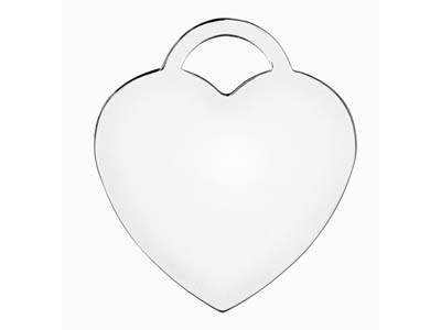 Sterling Silver Heart Lock 19mm    Stamping Blank