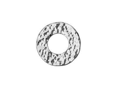 Sterling Silver Hammered Blank 15mm