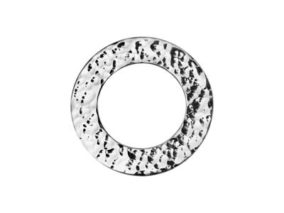 Sterling Silver Hammered Blank 20mm
