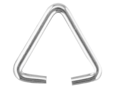 Sterling Silver Triangular Wire Bail Pack of 10