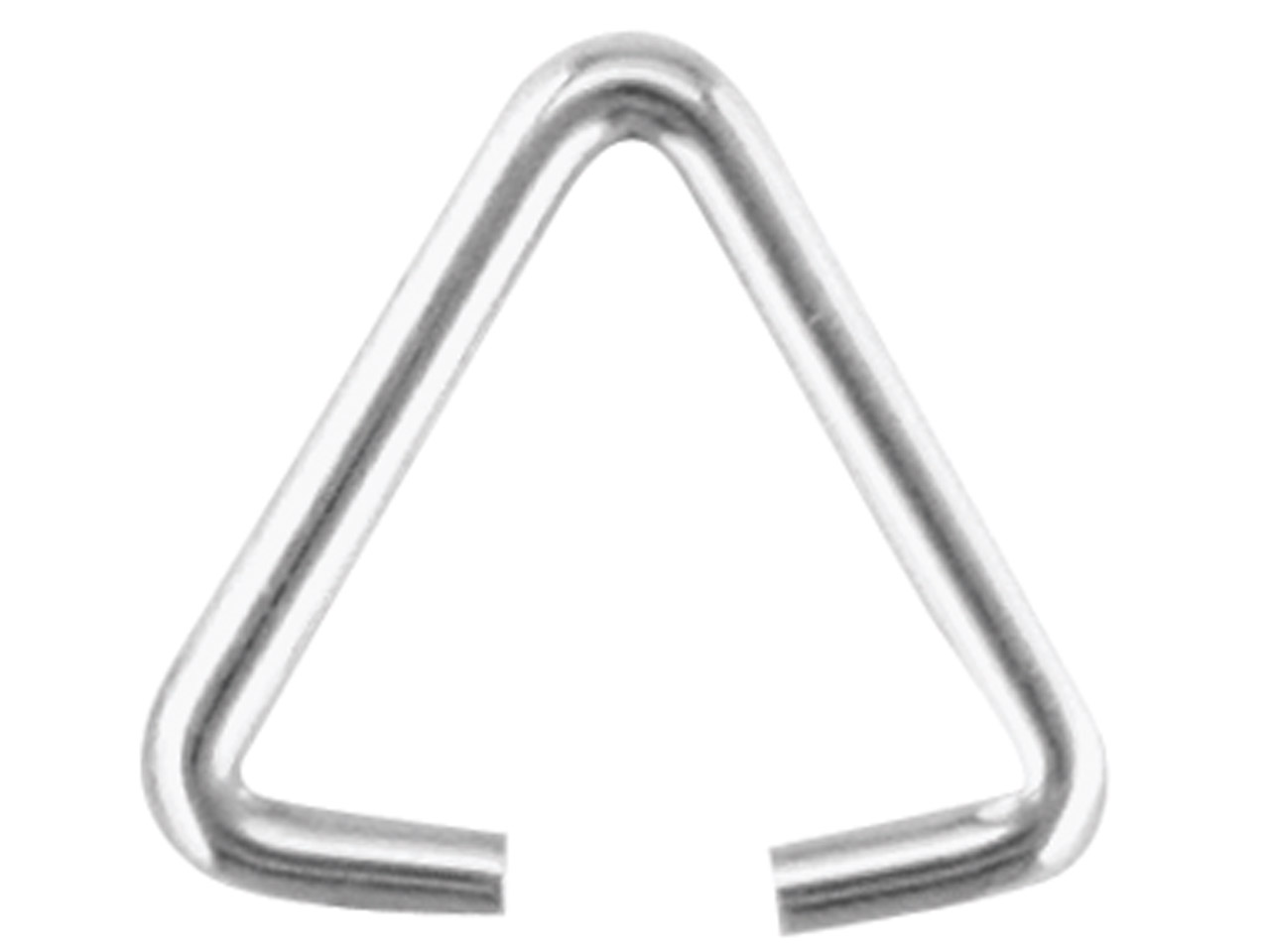 Sterling Silver Triangular Wire Bail Pack of 10 - cooksongold.com