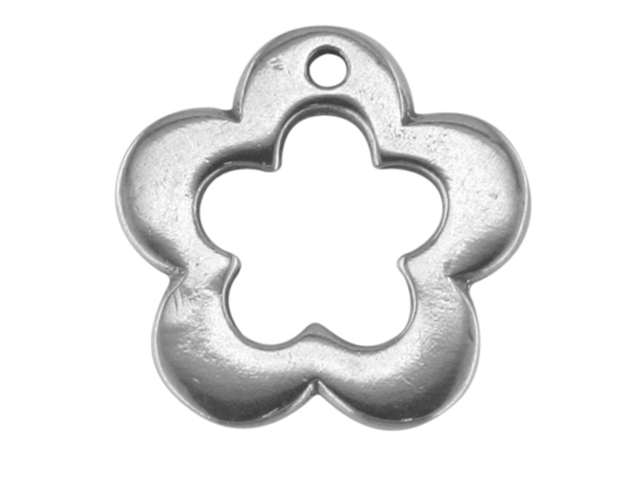 Sterling Silver Flower 12mm,       Decorative Spacer