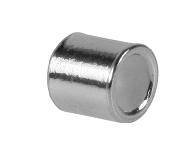 Sterling Silver Plain Crimp Tube,  Pack of 100, 1.2mm Inside Diameter X 1.1mm Long