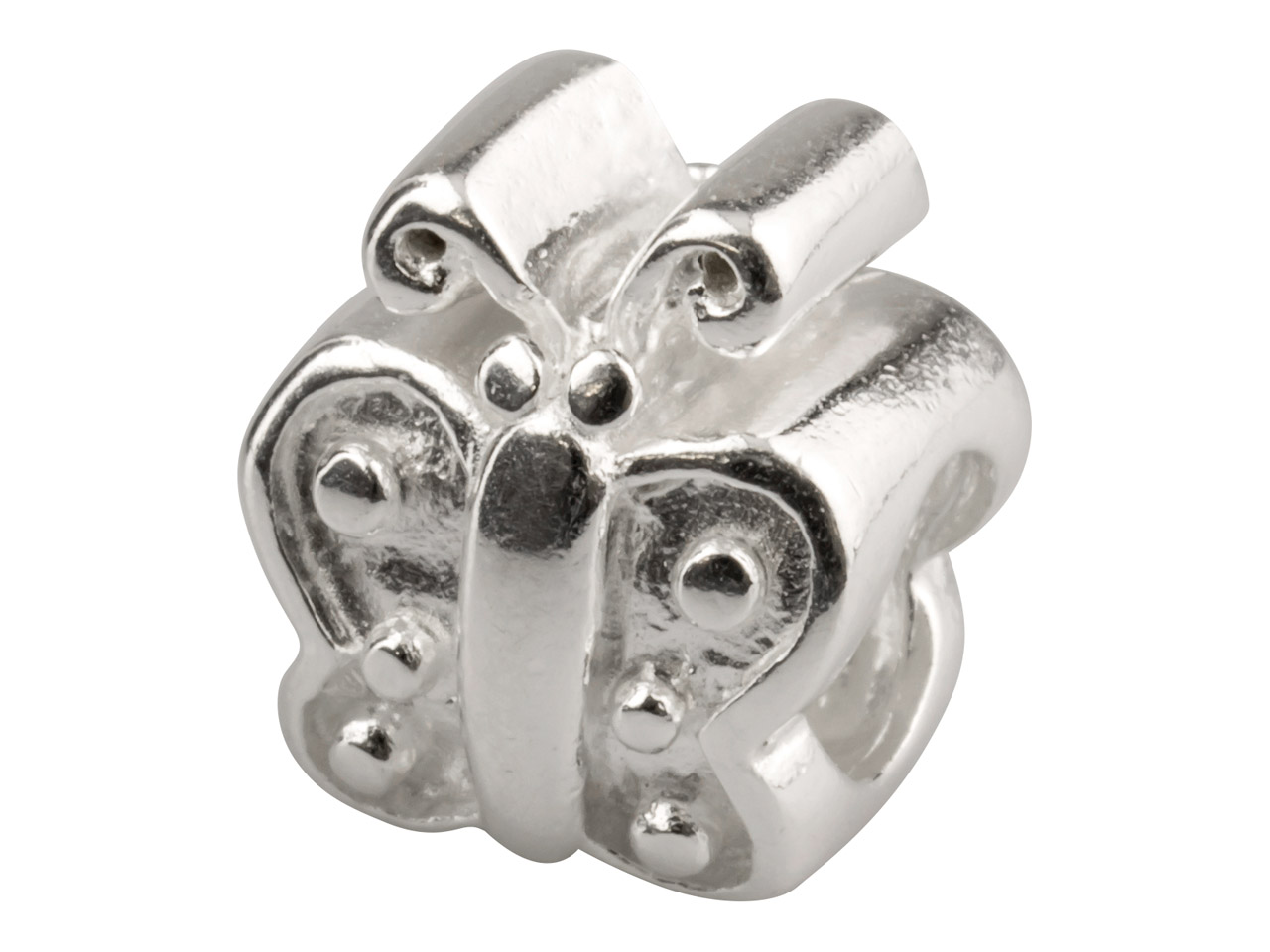 Sterling Silver Butterfly Charm    Bead