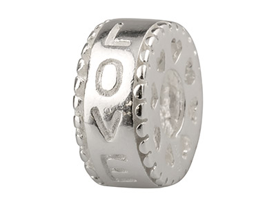 Sterling Silver love Charm Bead