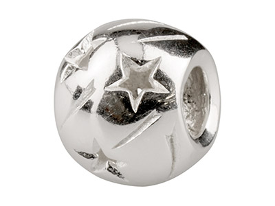Sterling Silver Stars Charm Bead