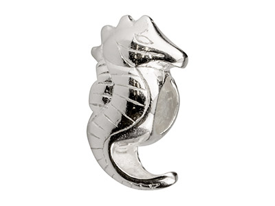 Sterling Silver Seahorse Charm Bead