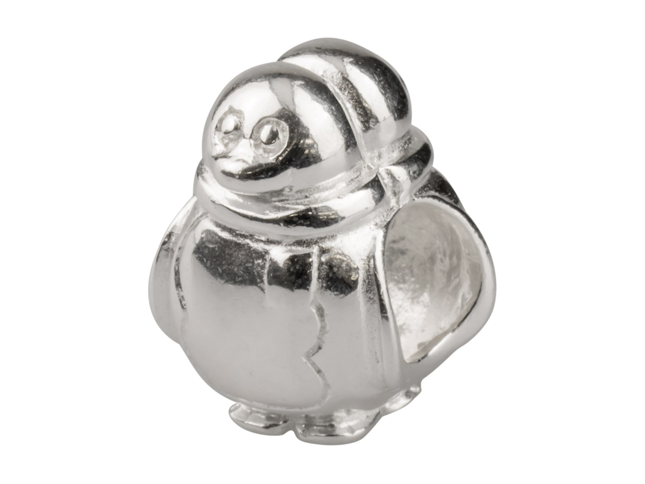Sterling Silver Penguin Charm Bead