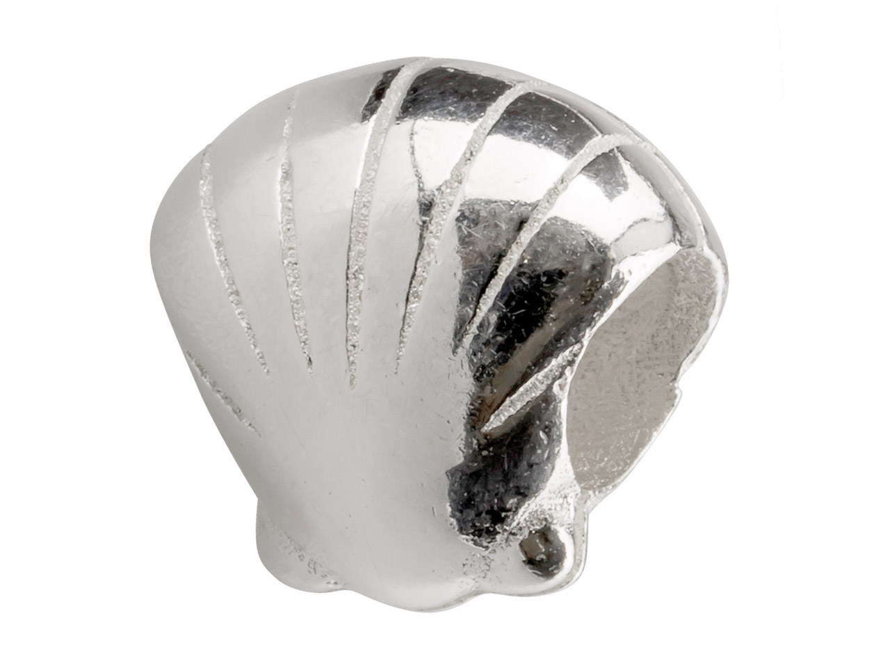 Sterling Silver Shell Charm Bead