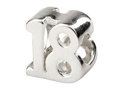 Sterling Silver 18 Charm Bead