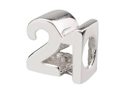 Sterling Silver 21 Charm Bead