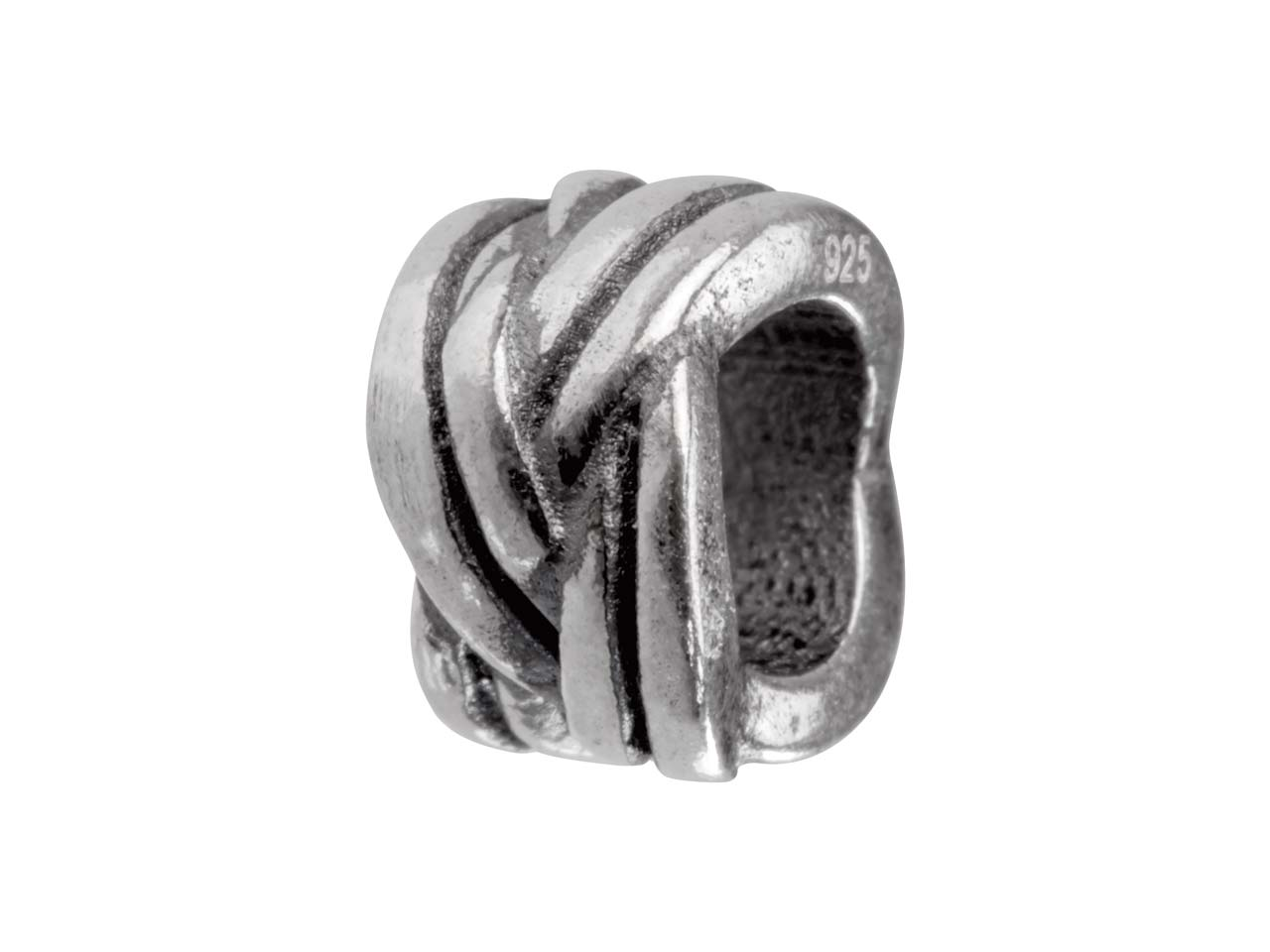 Sterling Silver Double Knot Charm  Bead