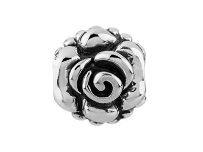 Sterling Silver Rose Charm Bead