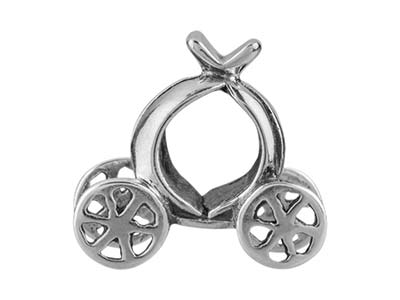 Sterling Silver Coach Charm Bead