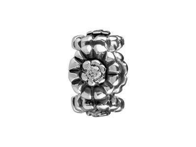 Sterling Silver Flower Charm Bead
