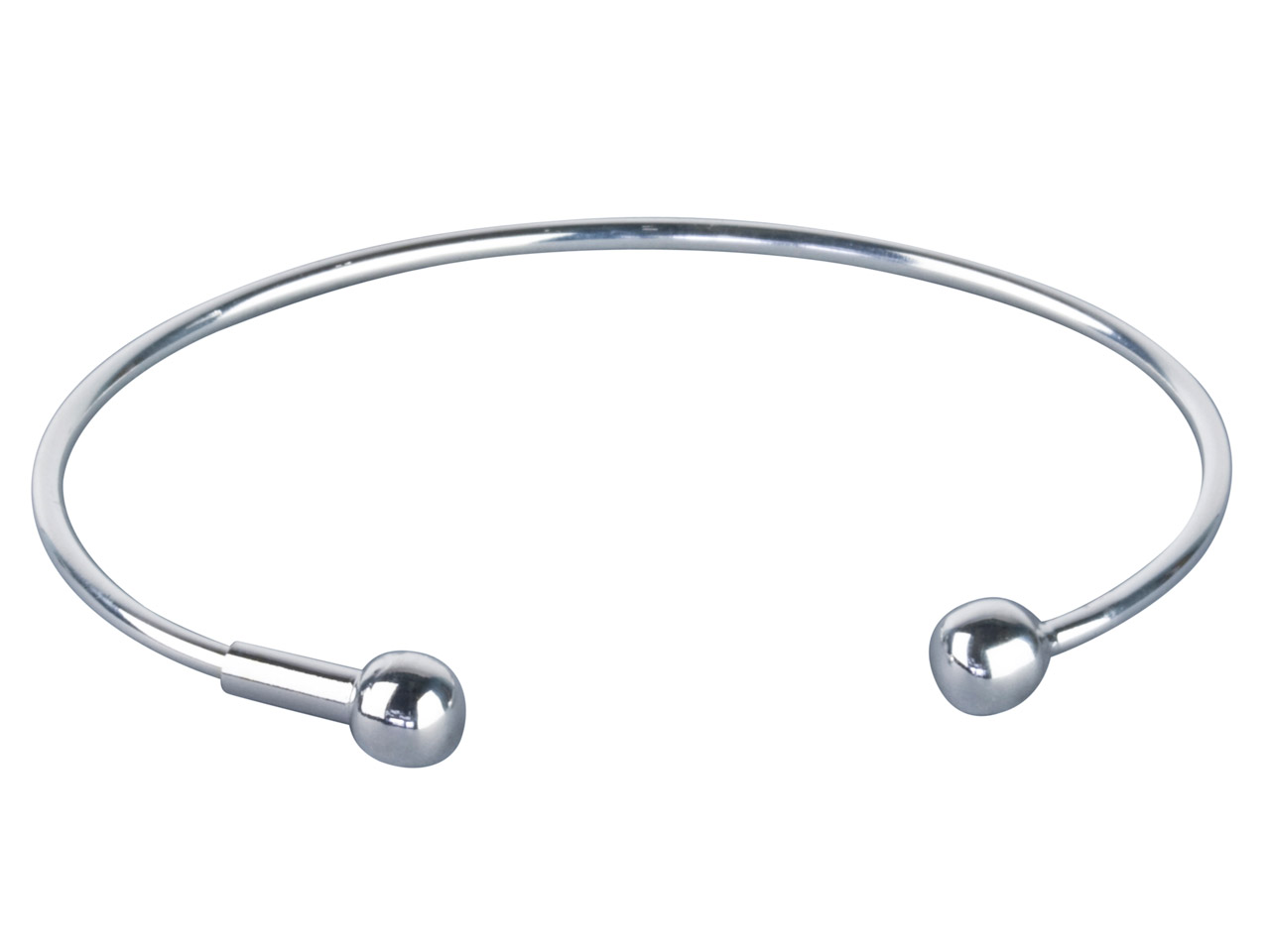 Sterling Silver Screwable Smooth   Bangle