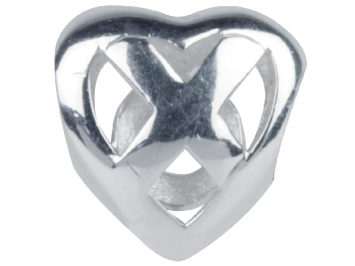 Sterling Silver Hug And Kiss Charm Bead