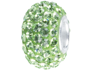 Green Crystal Charm Beads