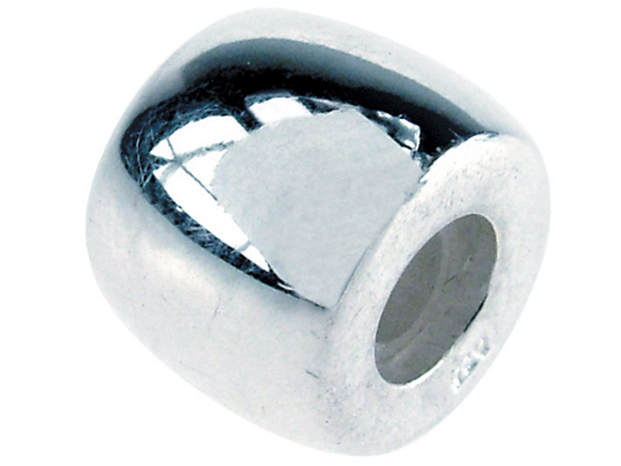 Sterling Silver Stopper Bead Plain - cooksongold.com