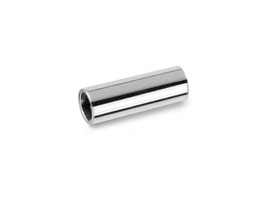 Sterling Silver Plain Round Tube   Bead, Pack of 25 10 X 4mm, Hole    Diameter 3.5mm