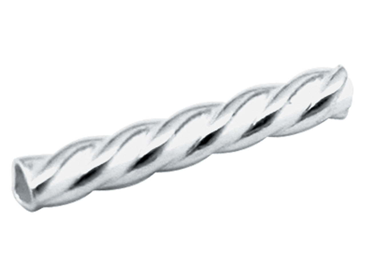 Sterling Silver Round Twisted Tube Bead, Pack of 25 10x1.5mm, Hole    Diameter 0.8mm