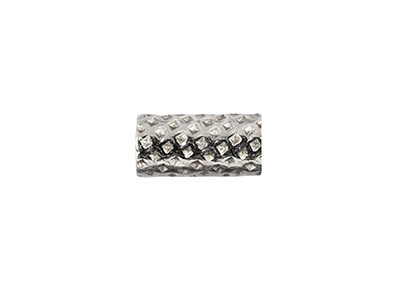 Sterling-Silver-Stippled-Tube-Bead-5x2mm