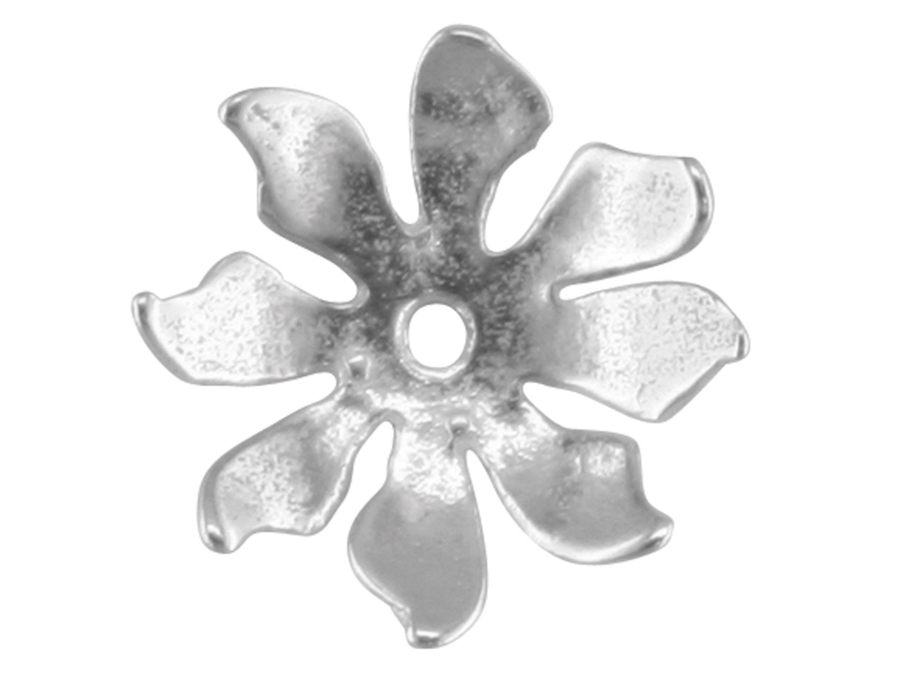 Sterling Silver Flower Bead Cup    11mm