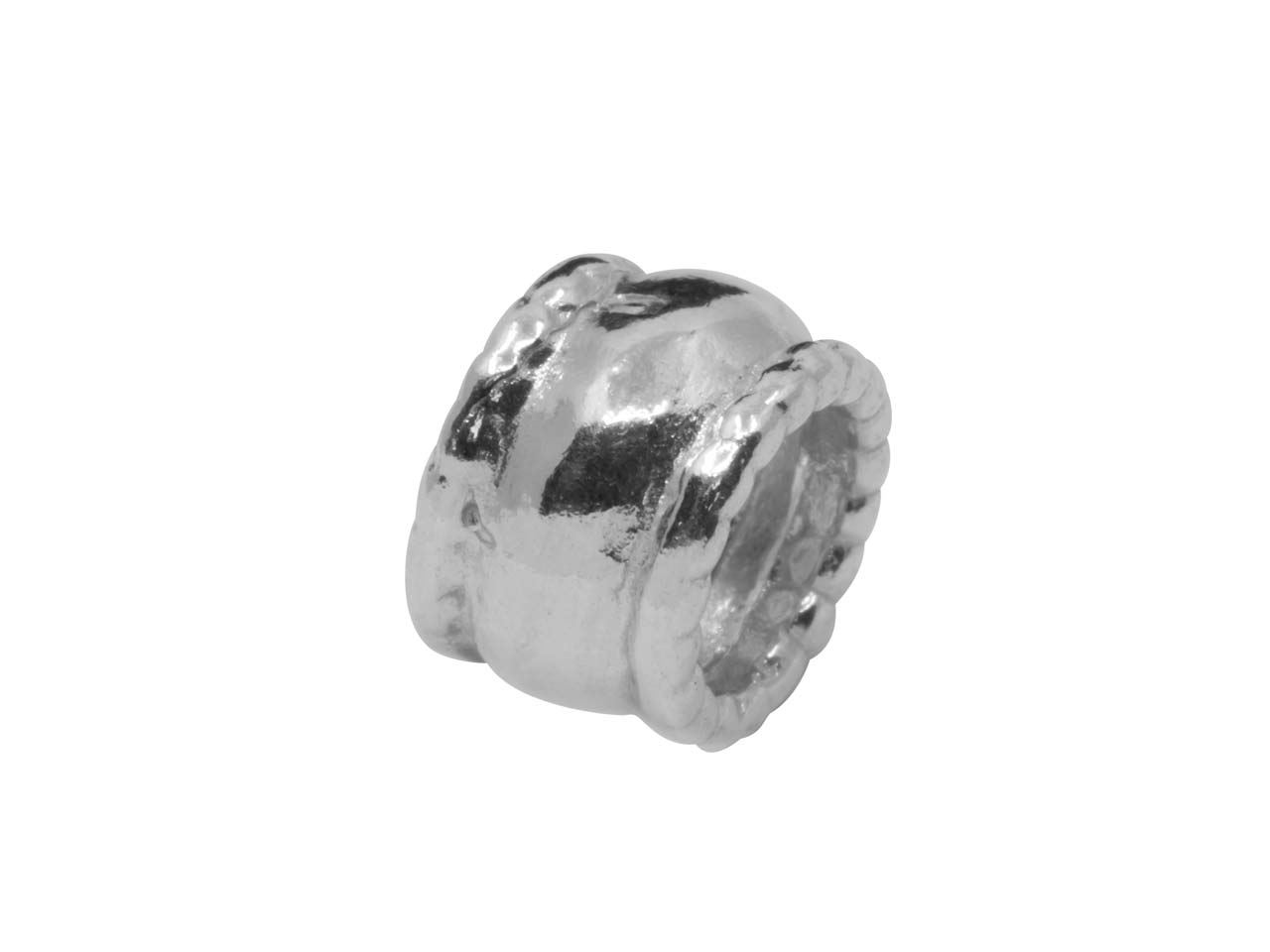 Sterling Silver Tube Spacers,      Pack of 6, 5.5x8mm, Hole Diameter  5mm