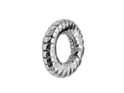 Sterling Silver Spiral Ring, 6mm,  Pack of 10, Spacer Links
