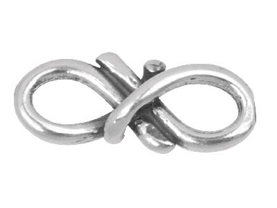 Sterling Silver Figure Of 8 Link,  Pack of 10, 13x5mm, Spacer Link