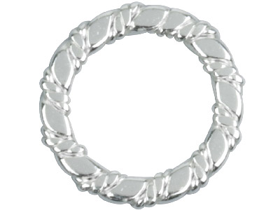 Sterling Silver Spacer Twisted     13.5mm 10mm Inside Diameter