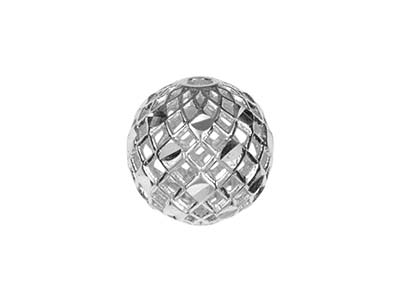 Sterling Silver Bead Filigree      Diamond Cut 4mm