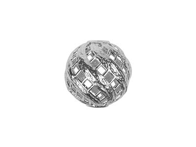 Sterling Silver Bead Filigree Twist 4mm
