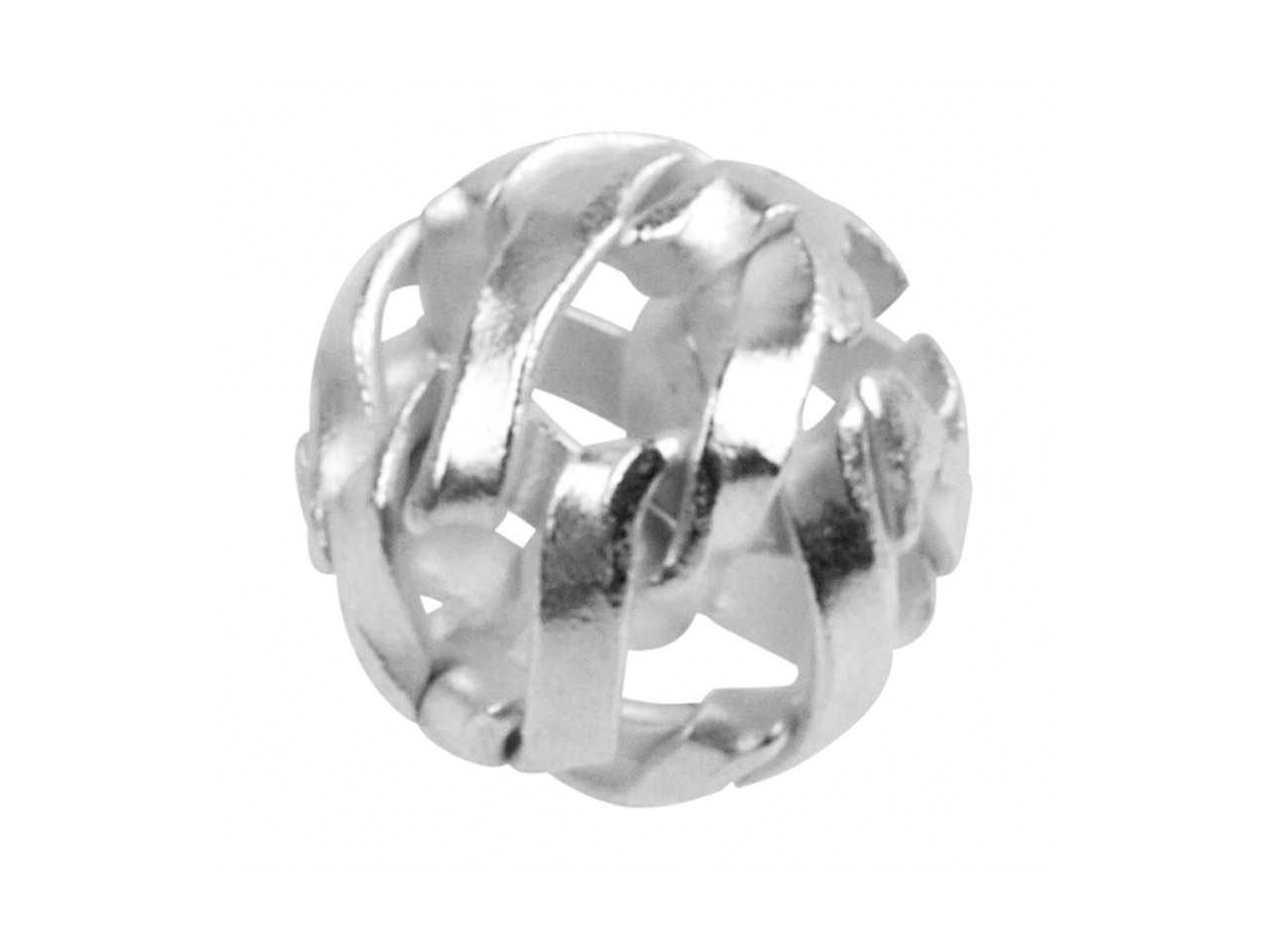 Sterling Silver Net Beads 7mm,     Pack of 10