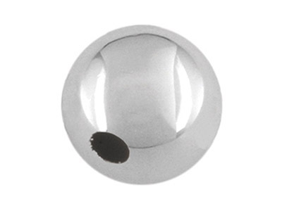 Sterling Silver Plain Round Bead,  8mm, 1 Hole Bead