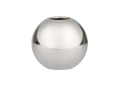 Sterling Silver Silicone Stopper   Round Bead 7mm