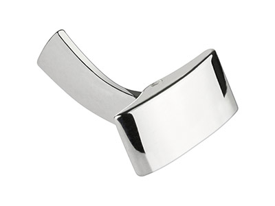 Sterling Silver Whale Tail Cufflink Rectangle