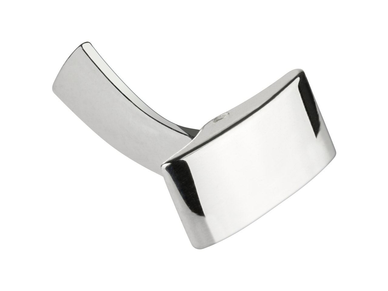 Sterling Silver Whale Tail         Cuff Link Rectangle