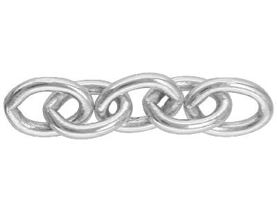 Sterling Silver Cufflink Chain     337a, Pack of 6