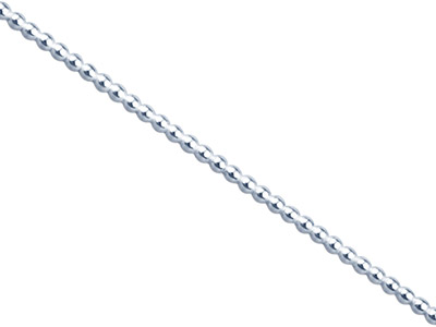 Sterling Silver Beaded Wire, 1.5mm