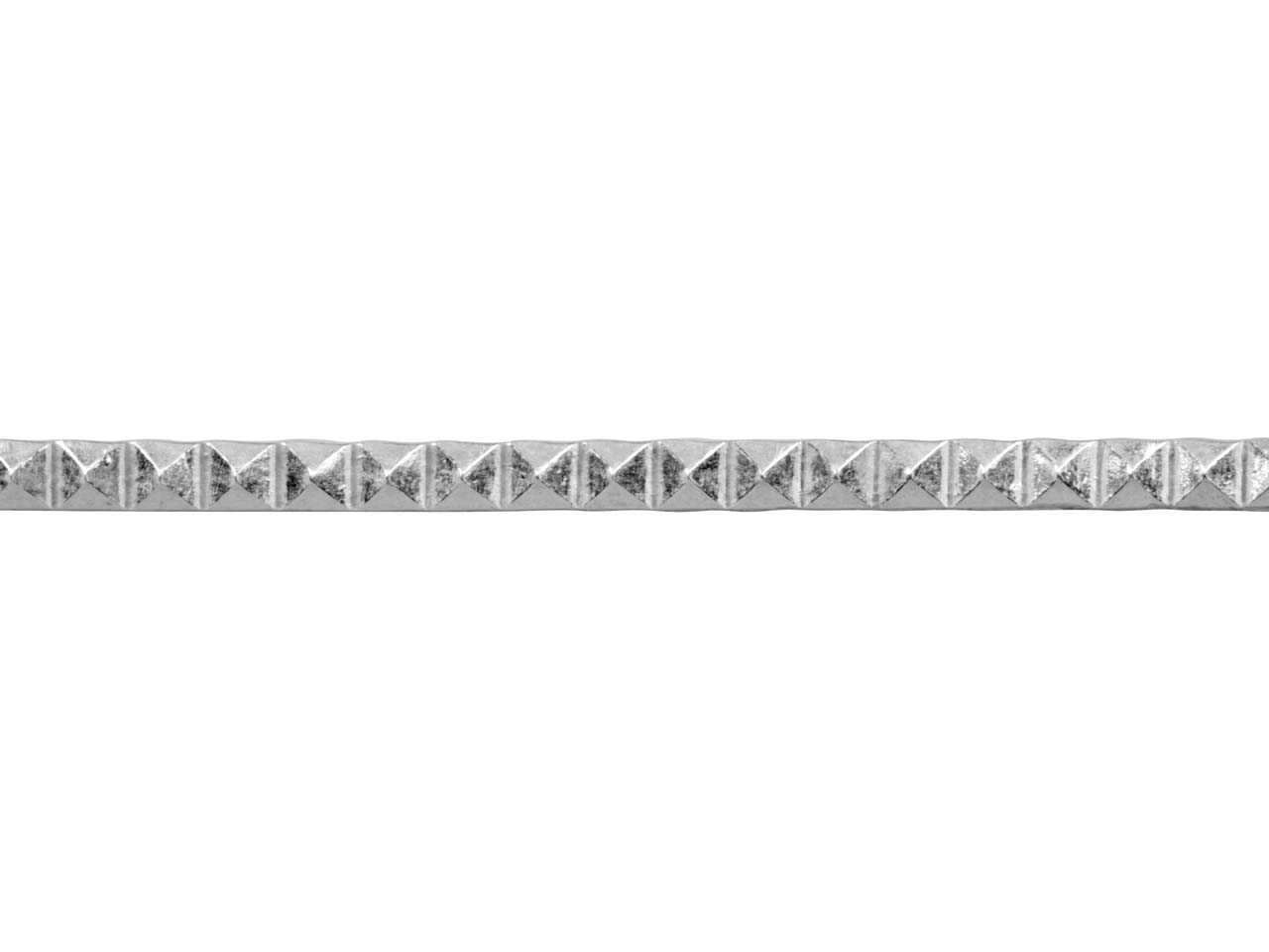 Sterling Silver Pyramid Design     Strip Wire, 3.5mm, 37.0gms/mtr