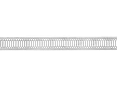 Sterling Silver Gallery Strip Ref 10gs 8.4mm Wide 44.0gmsmtr