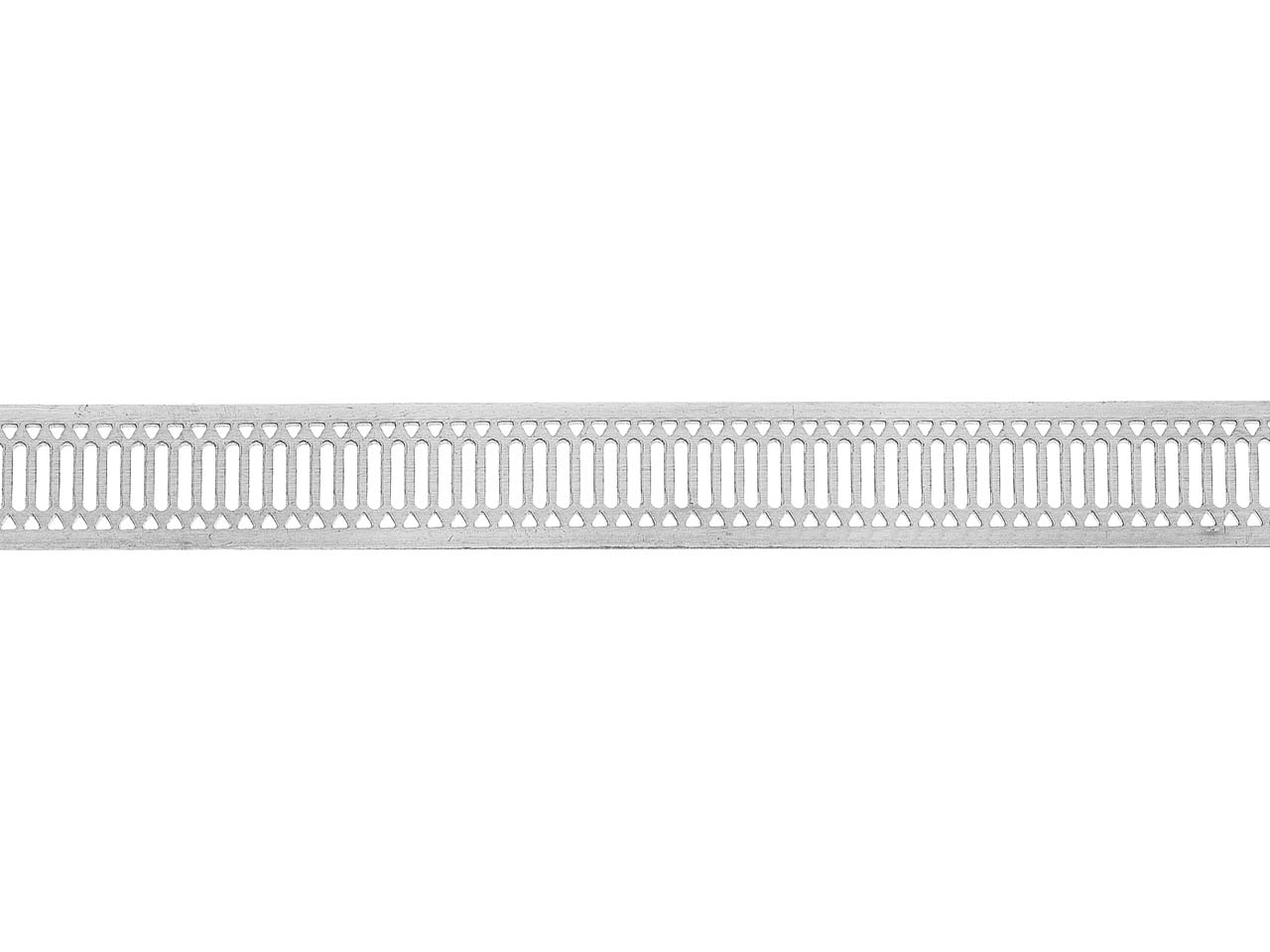 Sterling Silver Gallery Strip Ref  10gs 8.4mm Wide, 44.0gms/mtr