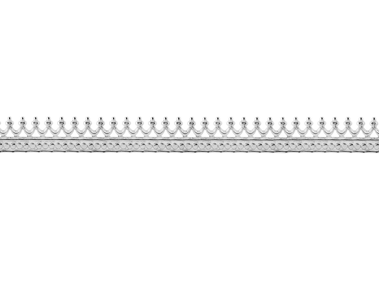 Sterling Silver Crown Gallery Strip 5.1mm