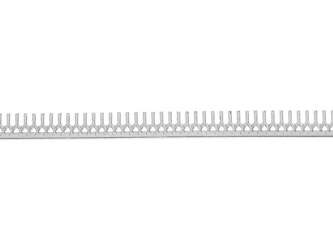 Sterling Silver Gallery Strip Ref  16gs 4.8mm Wide, 21.3gms/mtr