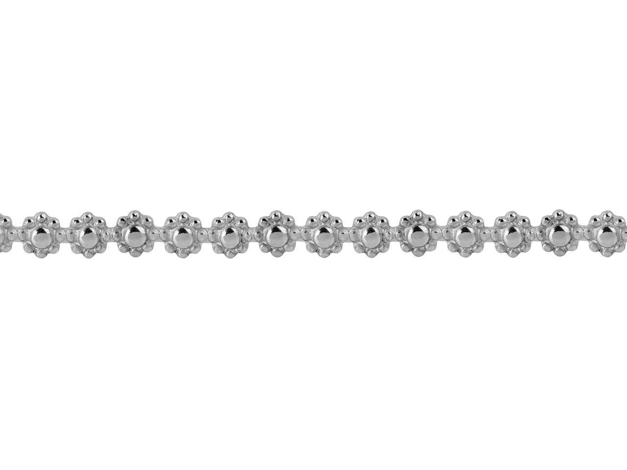 Sterling Silver Daisy Chain Berry  Gallery Strip 3.7mm