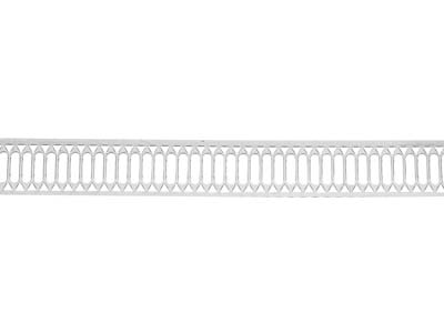 Sterling Silver Gallery Strip Ref 40gs 11.0mm Wide 48.0gmsmtr
